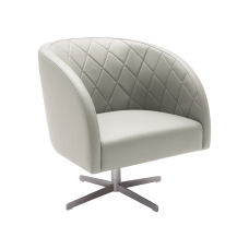 BOULEVARD SWIVEL ARMCHAIR (Top grain leather)